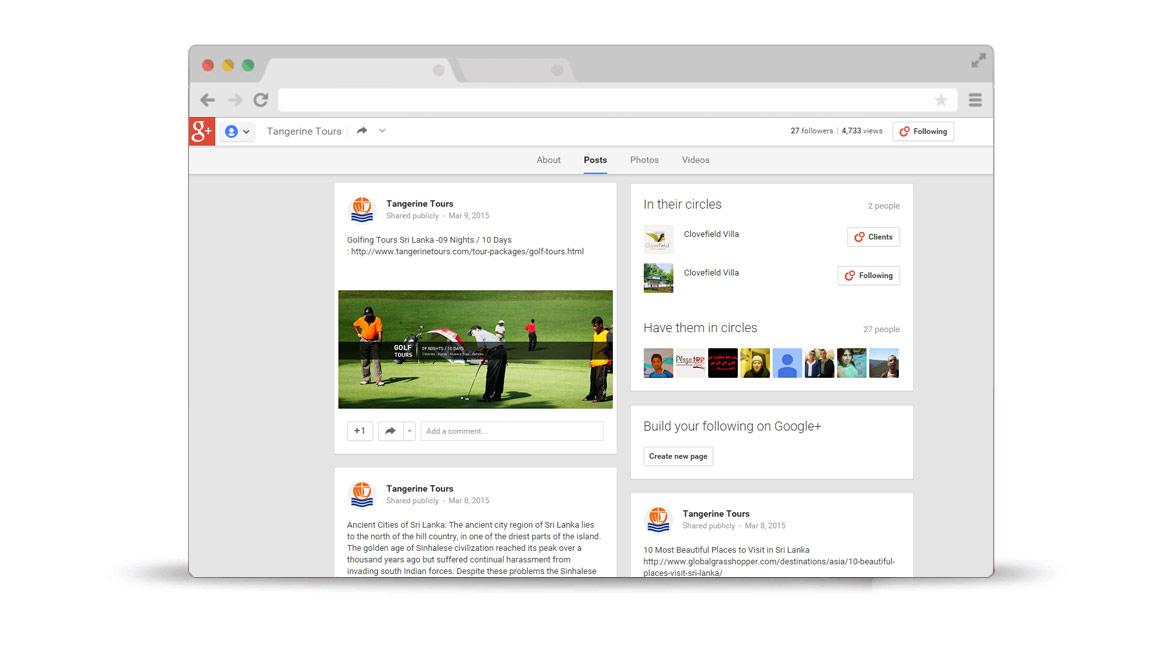 Build You Google Plus Page